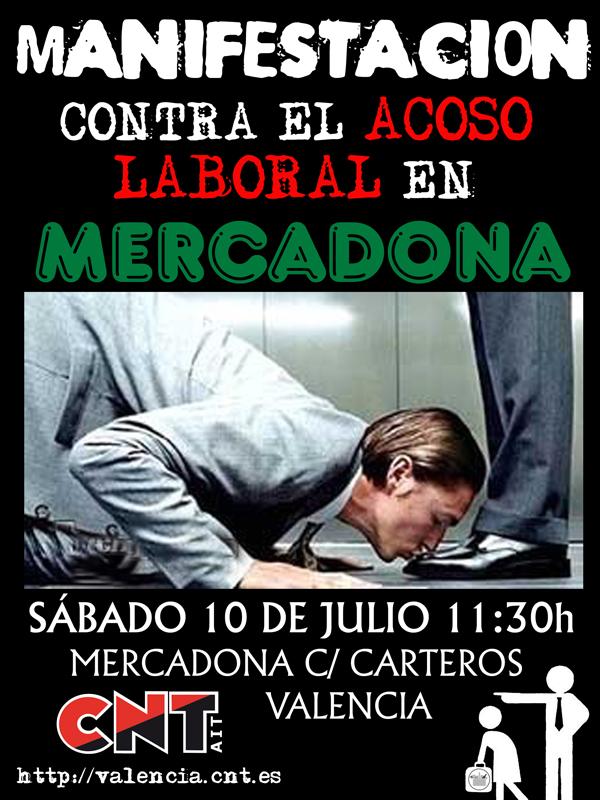 Manifestación contra el acoso en Mercadona