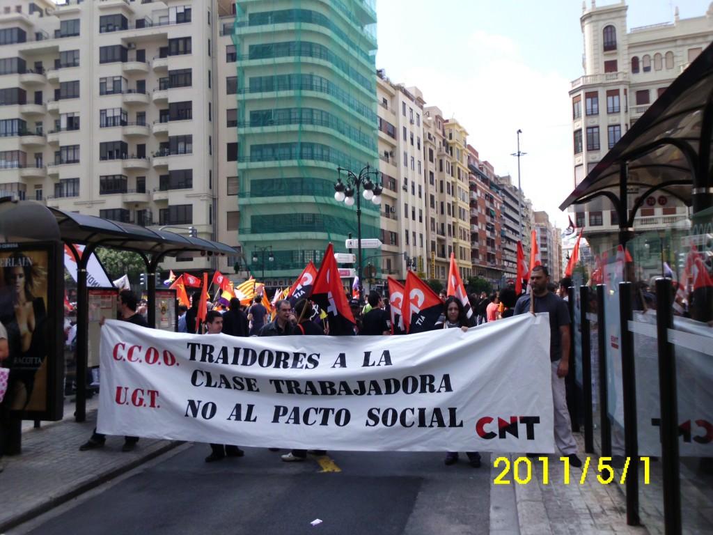 Manifestación 1º Mayo en Valencia. CNT AIT València