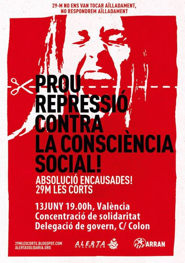 Concentracion contra represion