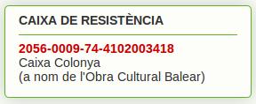 Caja Resistencia Huelga Baleares