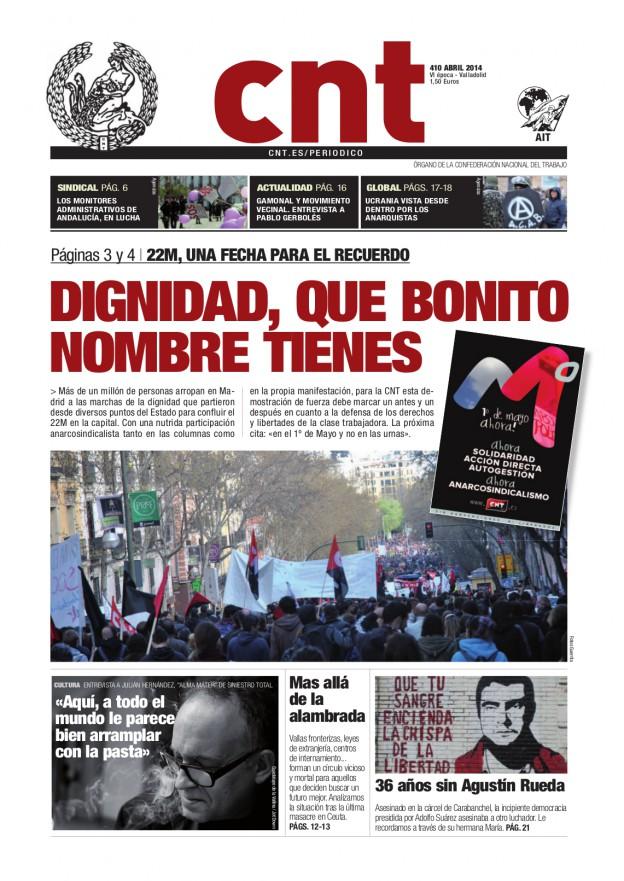 Periódico CNT 410 - Abril 2014