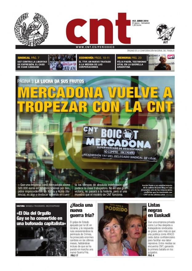 Periódico CNT 412 - Junio 2014