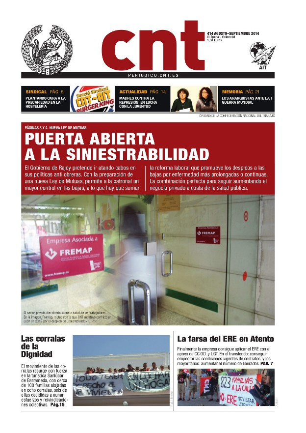 Periódico CNT 414 - Septiembre 2014