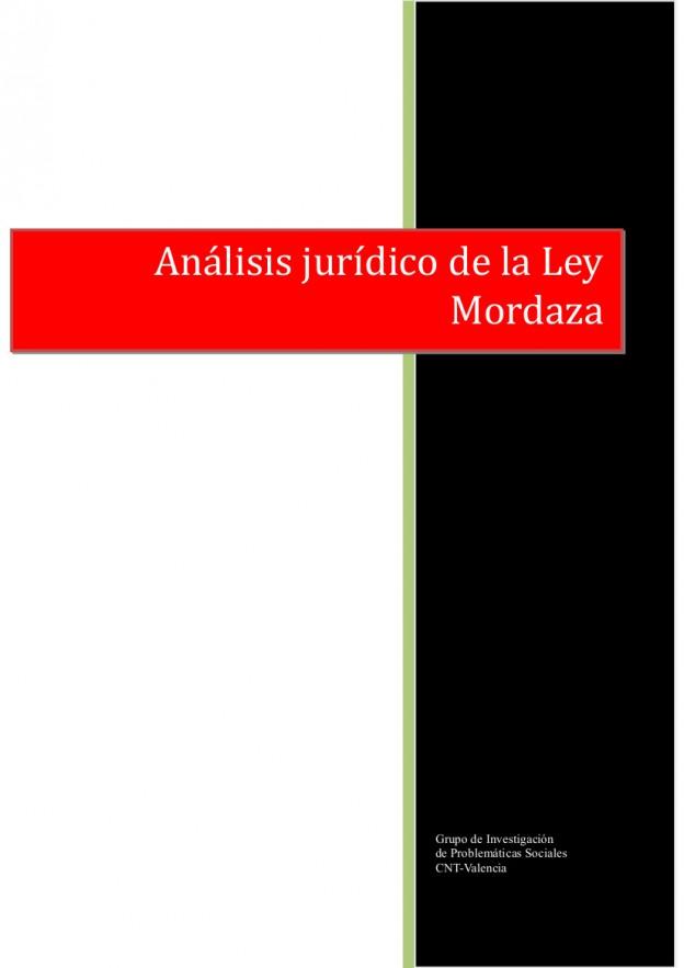 Análisis jurídico de la Ley Mordaza (18-01-2015)