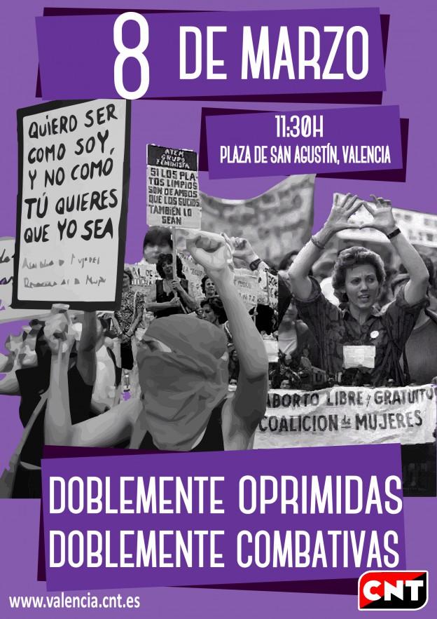 8 de marzo cartel A2 1130h San Agustín