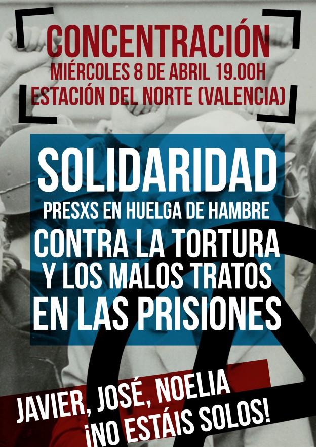 Concentración huelga de hambre