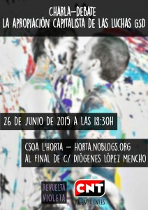 Cartel charla Luchas GSD