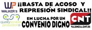 CNT Valencia inicia un conflicto sindical contra la empresa Quality Services  Production por el despido del delegado de la Sección Sindical