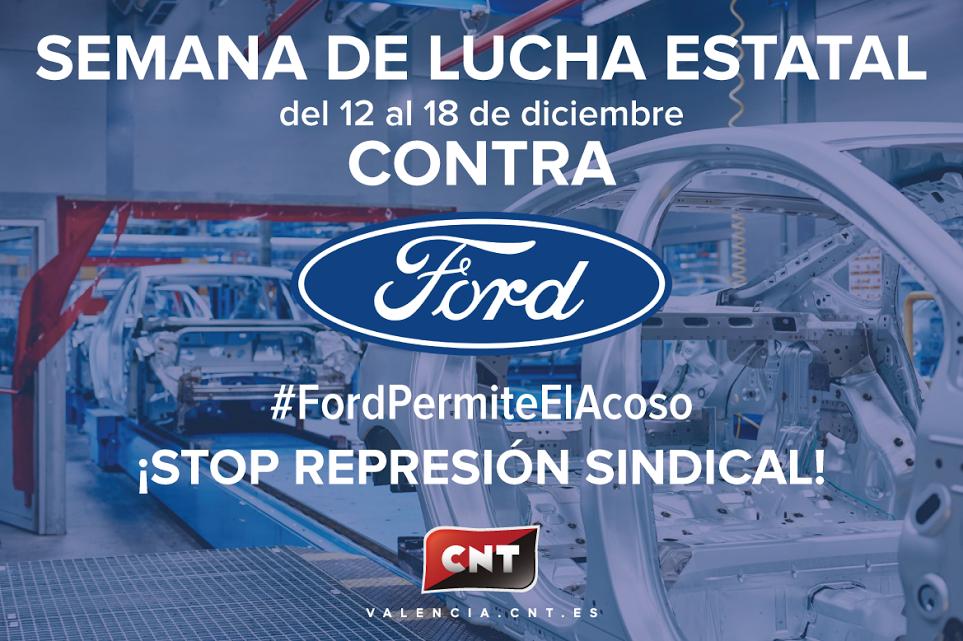 [Crónica] Semana de Lucha Estatal contra Ford por el despido del Delegado Sindical de CNT en Quality Services Production SLU