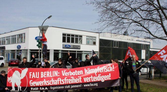El sindicato FAU se moviliza en Alemania ante el conflicto que CNT mantiene contra Ford en Valencia.