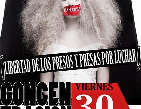 30-J: Per la derogació de la Llei Mordassa, concentració a València