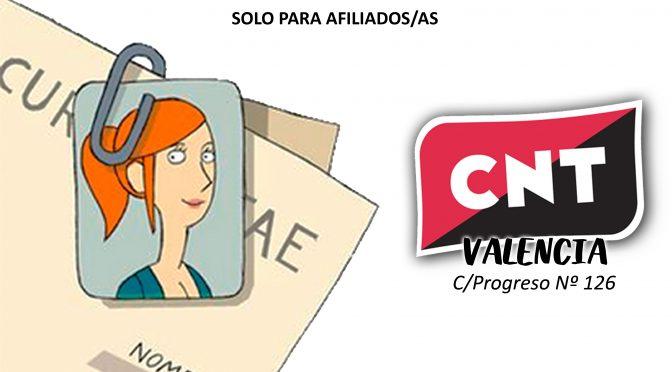 CNT Valencia organiza un curso de herramientas para la búsqueda activa de empleo