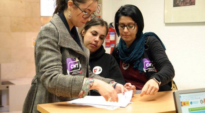 CNT València denuncia la imposición de servicios mínimos abusivos durante la huelga del 8M