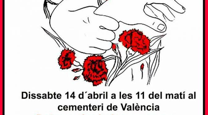 CNT-València participarà, com tots els anys, a l'acte d'homenatge a les víctimes del franquisme