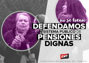 CNT frente a la ridícula subida de las pensiones
