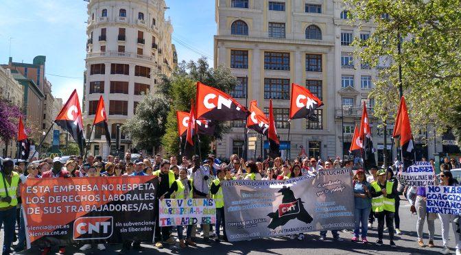 [Fotos] CNT València exige transparencia y dignidad a Servicarne
