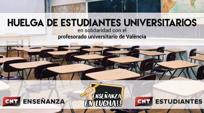 CNT apoya la huelga de estudiantes universitarios y del profesorado interino y asociado