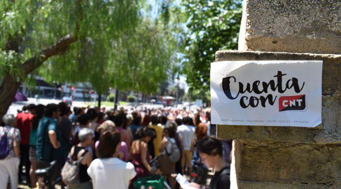 CNT València apoya a las trabajadoras de la fresa en Huelva