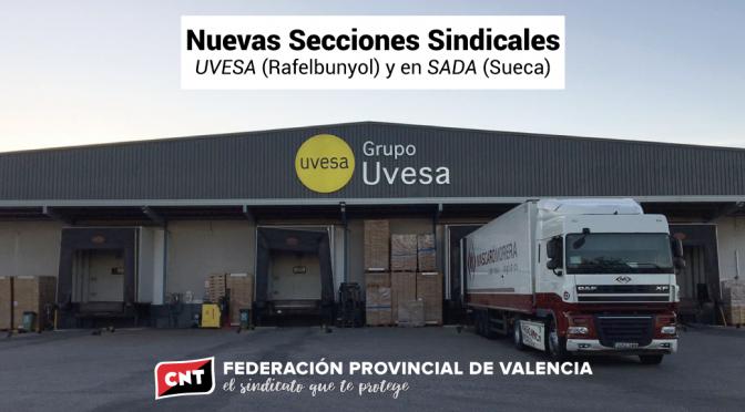 CNT constituye dos nuevas Secciones Sindicales en las plantas de UVESA y SADA en la provincia de València