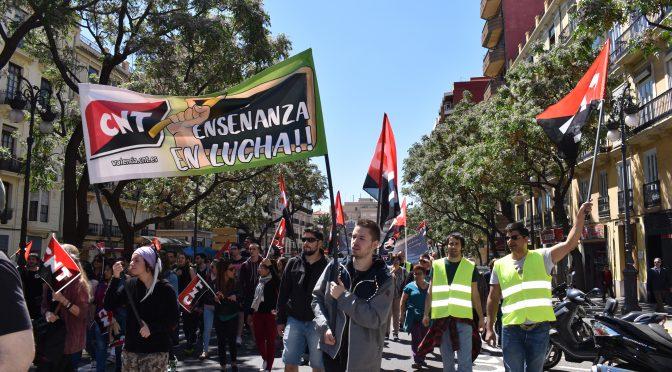 La Sección de Estudiantes de CNT-València no secundará la Huelga de Estudiantes del 14-N