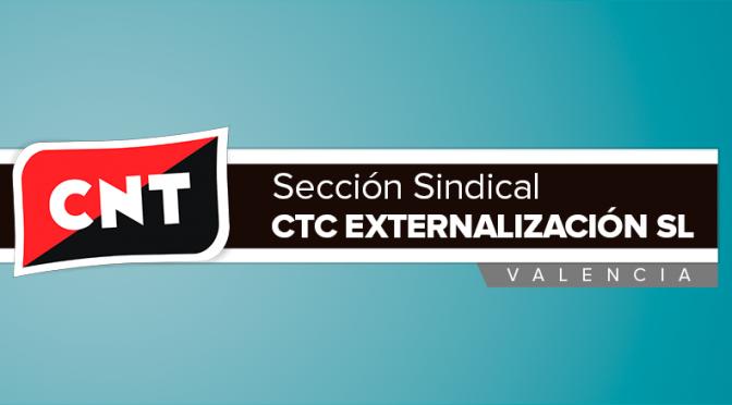 Nueva Sección Sindical de CNT constituida en la empresa CTC Externalización SL