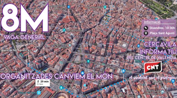 CNT hace un llamamiento a participar activamente en los actos convocados durante la huelga 8-M en València