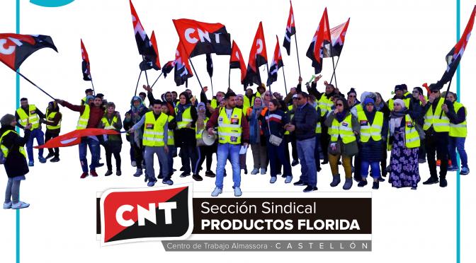 La Inspección de Trabajo advierte a Productos Florida de las sanciones por vulnerar el derecho de huelga