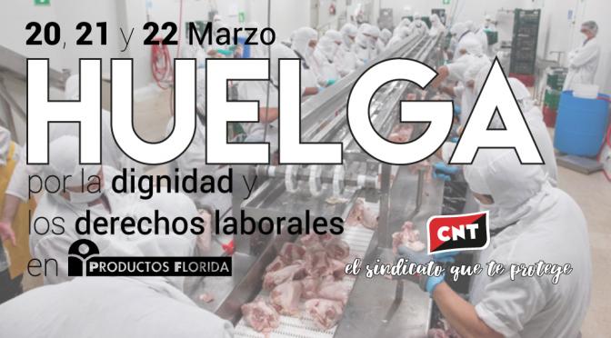 CNT convoca una huelga de tres días en la planta cárnica de Productos Florida en Almassora