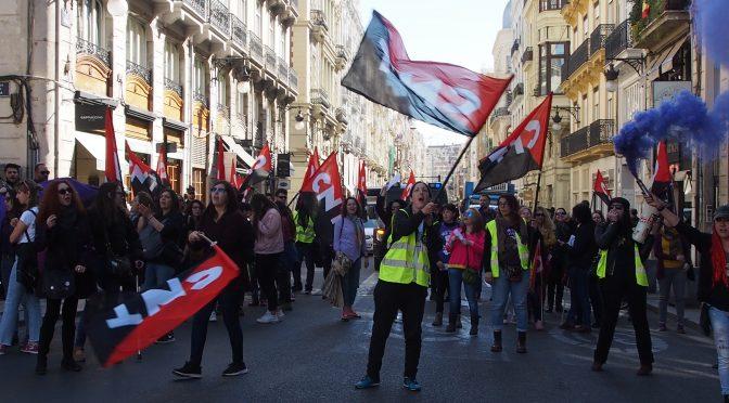 Éxito rotundo de participación durante la jornada de huelga general feminista del 8M