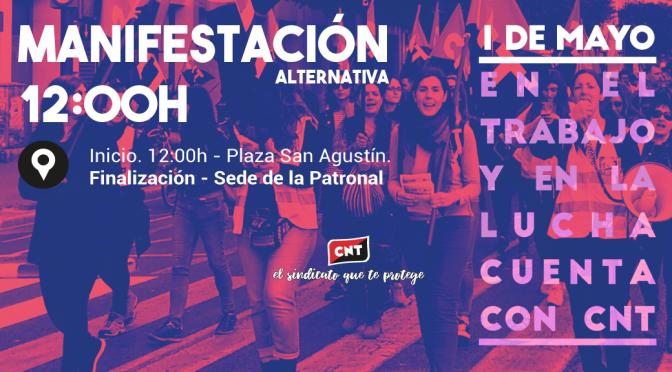 [Manifestación] CNT celebrará un Primero de Mayo defendiendo un sindicalismo diferente