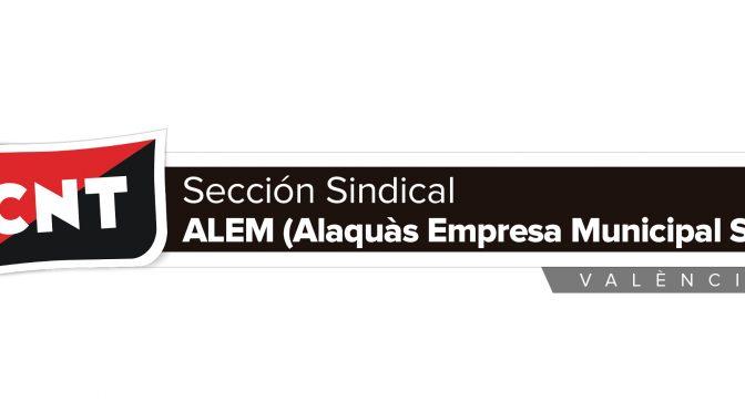 CNT constituye una Sección Sindical en ALEM (Alaquàs Empresa Municipal SL)