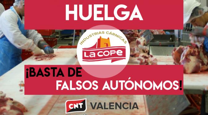 CNT convoca una huelga de cuatro días en La Cope de Torrent