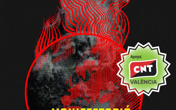 CNT València secunda las movilizaciones por el clima del 27 de septiembre