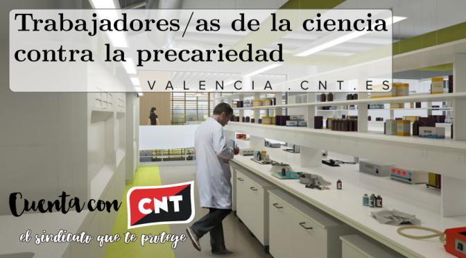 CNT denuncia la precariedad que se vive en el sector de la investigación