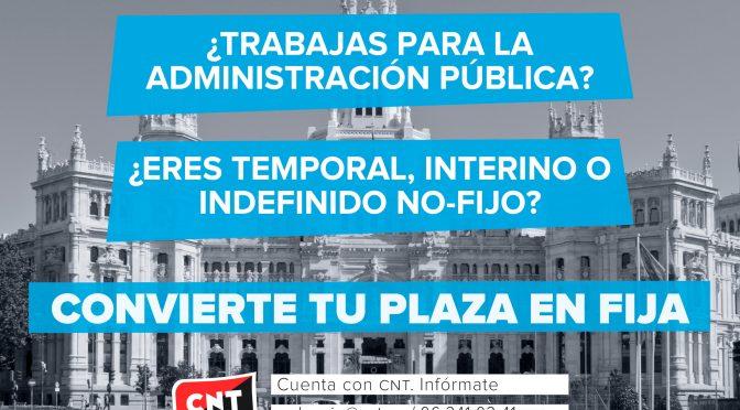 CNT València inicia una campaña informativa dirigida a los trabajadores/as de la Administración Pública