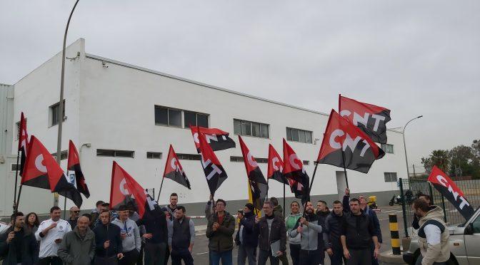 Amplio seguimiento en la huelga de CNT en la sala de despiece de Mercavalencia