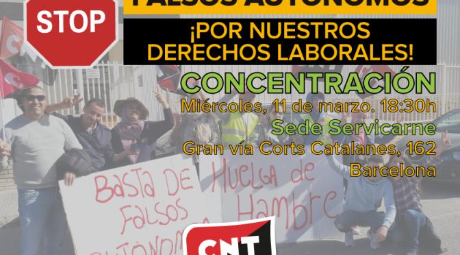 [11m] CNT convoca una concentración frente a la sede de Servicarne en Barcelona