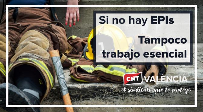 CNT València denuncia la escasez generalizada de EPI's en los sectores considerados esenciales