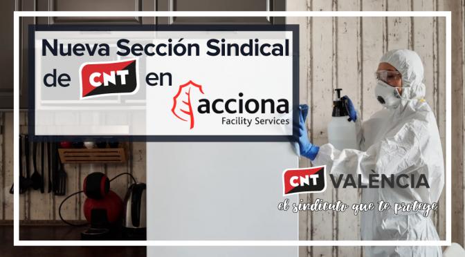 CNT València constituye una sección sindical en Acciona Facility Services