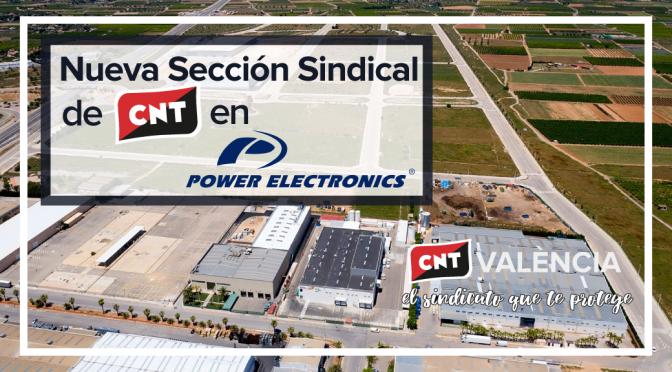 CNT constituye una sección sindical en la planta de Power Electronics en Llíria