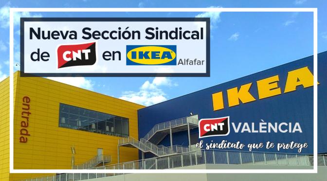 CNT constituye una sección sindical en el IKEA de Alfafar